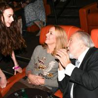 Elizabeth Jagger, Jerry Hall and George Schlatter