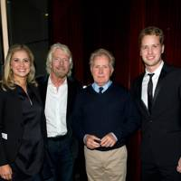 Holly Branson, Sir Richard Branson, Martin Sheen and Sam Branson