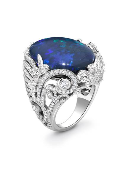 Opal and diamond ring, POA, David Marshall London