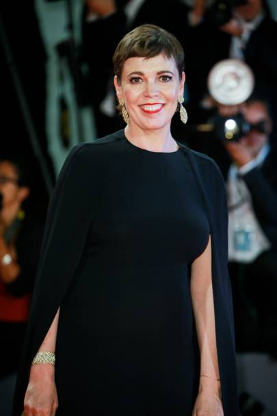 Olivia Colman at The Favourite premiere