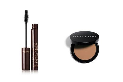 Charlotte Tilbury Full Fat Lashes in Glossy Black and Bobbi Brown Bronzing Powder