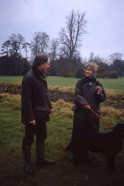 Squadron Leader Richard Bullen and Mrs Philip Evans