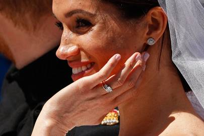 Duchess of Sussex's three-stone engagement ring by Cleave and Company
