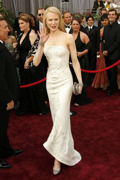 Wearing Balenciaga at the Academy Awards, 2006