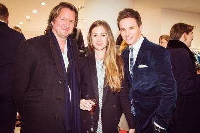 Tom Hooper, Hannah Bagshawe and Eddie Redmayne