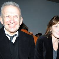 Jean-Paul Gaultier and Carla Bruni Sarkozy