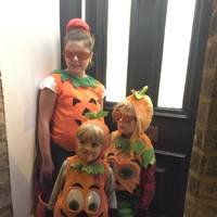 Isla, Woody and Philo Scott-Dalgleish as pumpkins