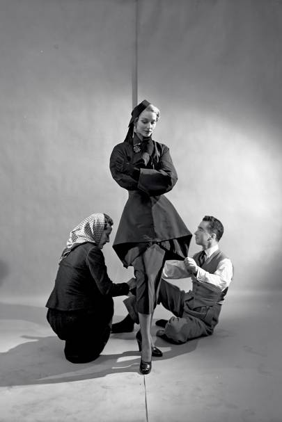 Charles James fitting a model
