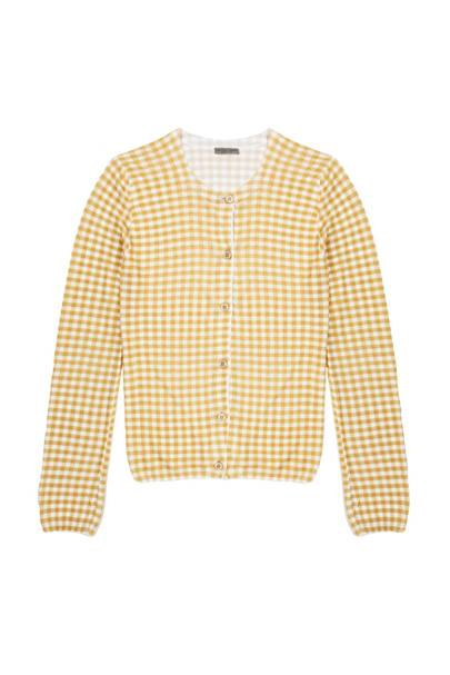 Cardigan, £850, by Bottega Veneta