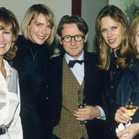 Mrs Nicky Clarke, Mrs John Swannell, John Swannell, Mrs Nick Mason and Paula Wilcox