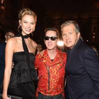 Karlie Kloss, Jeremy Scott and Mario Testino