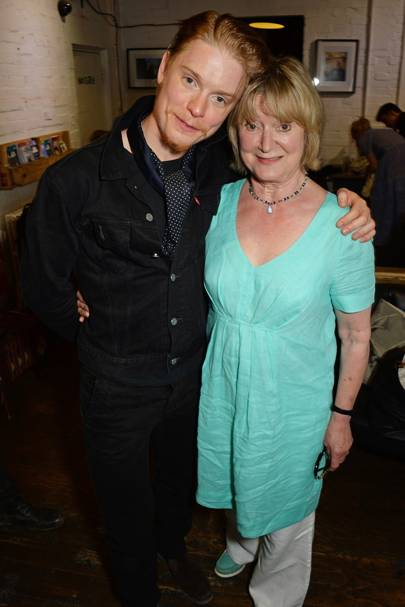 Freddie Fox and Joanna David