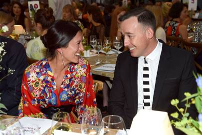 Hikari Yokoyama and David Furnish