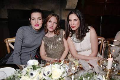 Charlotte Casiraghi, Josephine de la Baume and Tatiana Casiraghi