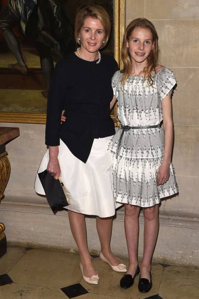 Viscountess Serena Linley and Margariat Armstrong-Jones