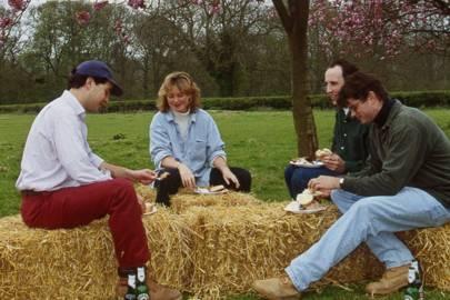 John Stainton, Katie Hopkirk, Charles White and Hugh Adlington