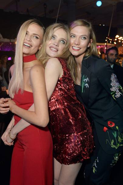 Natasha Poly, Natalia Vodianova and Karlie Kloss
