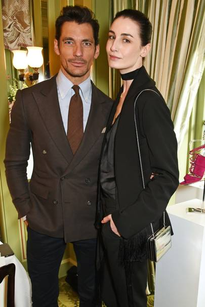 David Gandy and Erin O'Connor