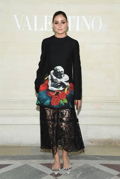 Olivia Palermo attends the Valentino show