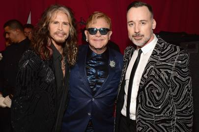 Steven Tyler, Sir Elton John and David Furnish