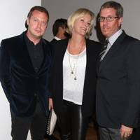 Matthew Freud, Elisabeth Murdoch and Marc Glimcher