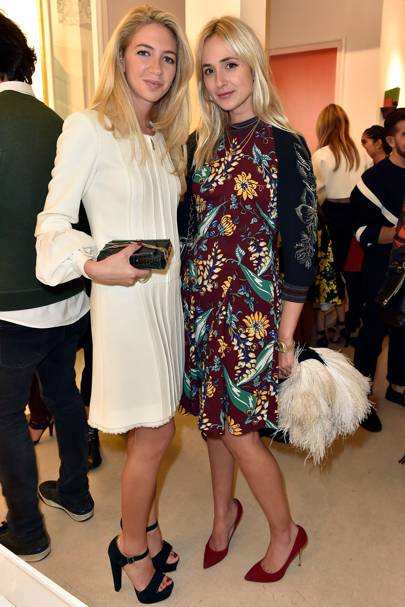 Sabine Ghanem and Elisabeth Thurn und Taxis