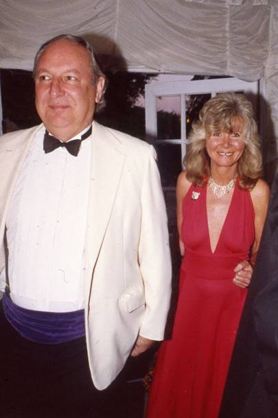 Leo Cooper and Jilly Cooper