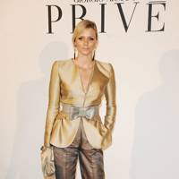 Princess Charlene of Monaco at the Giorgio Armani Privé show, S/S09