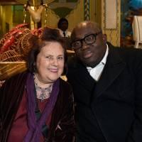 Suzy Menkes and Edward Enninful