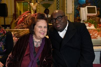 Suzy Menkes and Edward Enninful