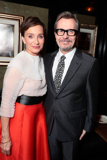 Dame Kristin Scott Thomas and Gary Oldman
