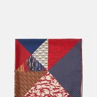 CH Carolina Herrera silk patchwork scarf