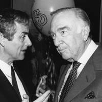 Harold Evans and Walter Cronkite