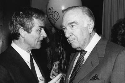 Harold Evans and Walter Cronkite