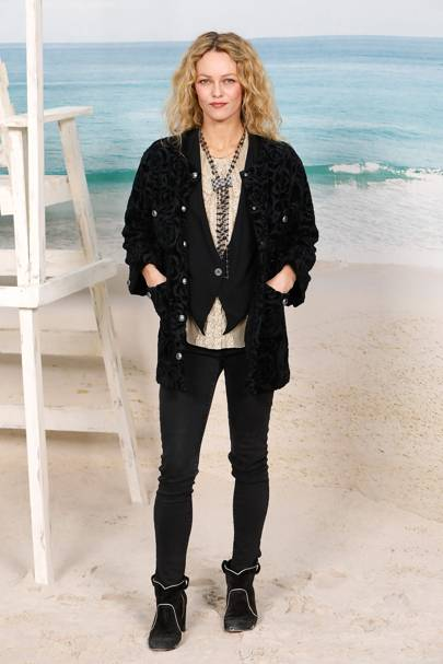 Vanessa Paradis at the Chanel show.