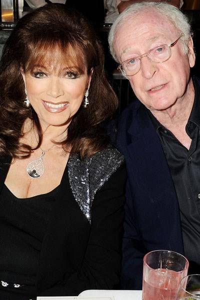 Jackie Collins and Michael Caine