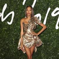 Jourdan Dunn wearing Andreas Kronthaler for Vivienne Westwood to the British Fashion Awards 2019