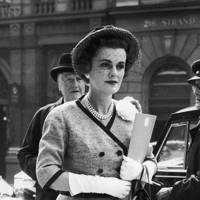 Outside the law courts in the Strand before being sued for slander and libel by her former social secretary Yvonne MacPherson  in 1960