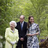 The Queen, the Duke of Cambridge and the Duchess of Cambridge