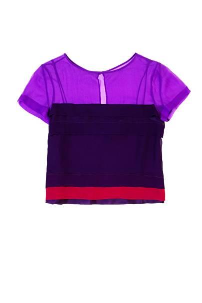 Silk top, £425, by Alberta Feretti