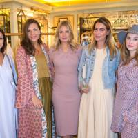 Roxie Nafousi, Sophie Bartelski Mitchell, Marissa Montgomery, Sophia Khaddam and Rosie Fortescue