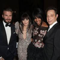 David Beckham, Annabelle Neilson, Naomi Campbell and Jamie Hince