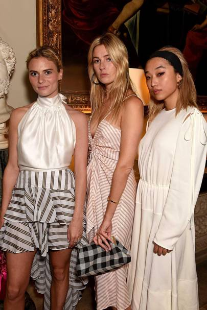 Pandora Sykes, Camille Charrière and Margaret Zhang