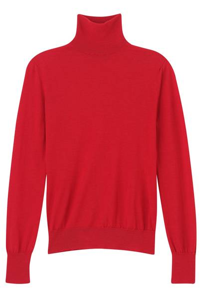 Merino-wool & cashmere turtleneck, £509, by Emilia Wickstead