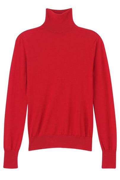 Merino-wool & cashmere turtleneck, £509, by Emilia Wickstead