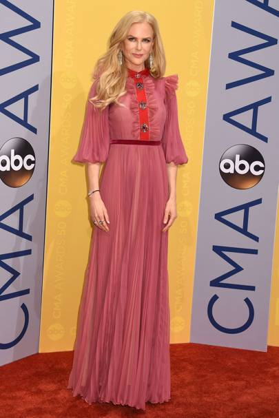 Wearing Gucci at the CMA awards, 2016