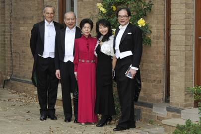 Bertrand Michaud, Sir David Li, Lady Penny Li, Connie Tan and Boon Seng Tan