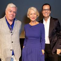 Tim Blanks, Dame Helen Mirren and Roberta Armani