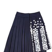 STUDDED FLANNEL SKIRT, £680, BY MULBERRY