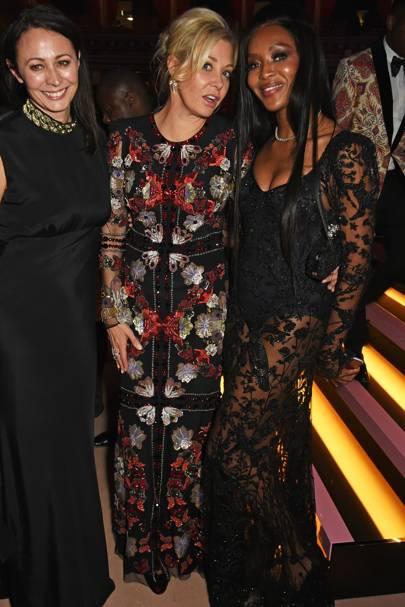 Caroline Rush, Nadja Swarovski and Naomi Campbell